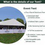 hot sale white party tent for romantic wedding or event