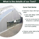 Huge curve tent for sale or rental in Thailand