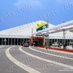 Big Glass Exhibition Tent with Glass Wall and Door