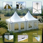 Pop Up Pagoda Canopy Tent For Church Or Camping Supply