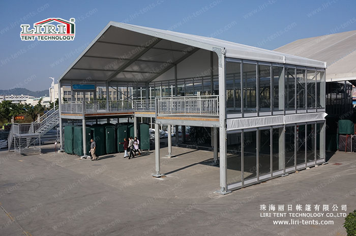 Customized design double decker tent for outdoor events