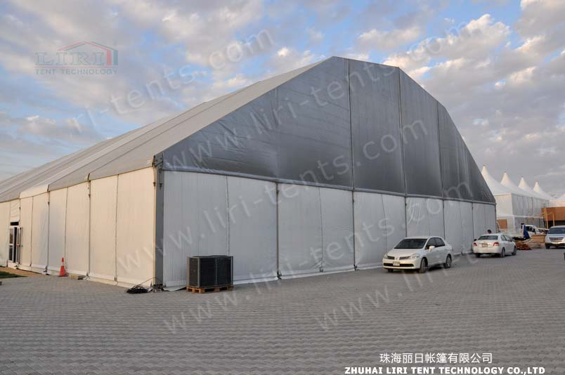 2015 New Design Huge Polygon Tent 60m For Industry Storage