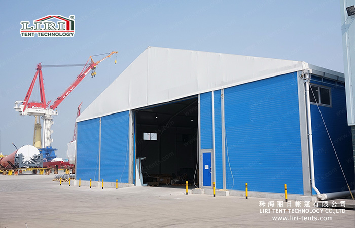 Liri Tent-25m wide warehouse with sandwich wall and roller door (15) & Hard Wall Warehouse Marquee Tent u2014 Marquee Tents for Sale