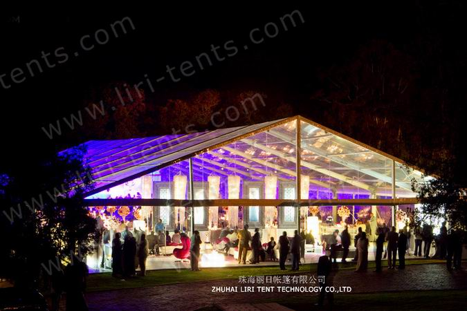 Decorated Clear Wedding Tent