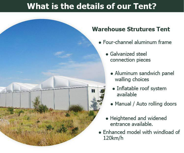 warehouse tent feature