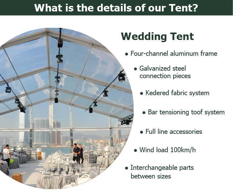 wedding tent features