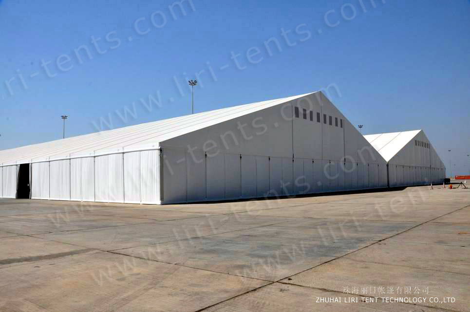Temporary Warehouse Structures 65 x 170m For Storage and Work shop