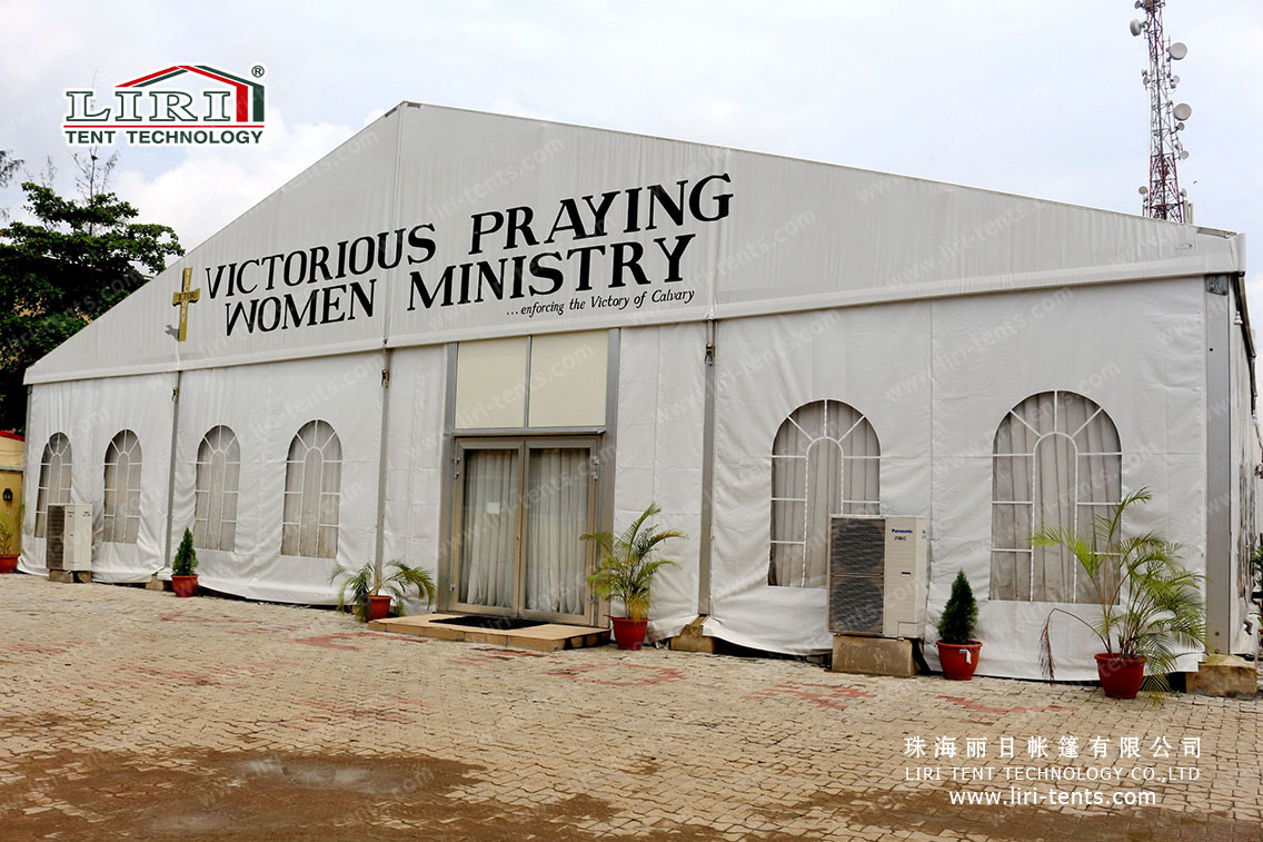 Large church tent for 500 people in Nigeria