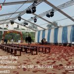 Clear Top Marquee Transparent Roof Wedding Reception Tent in Guangzhou
