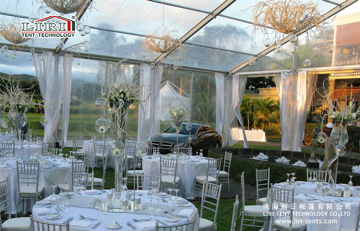 Hot Sale Clear Top Tent Transparent Roof Wedding Reception
