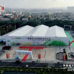 Large exhibition marquee tent for show
