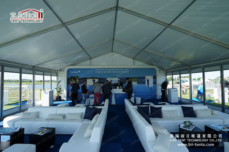 New party tent inside