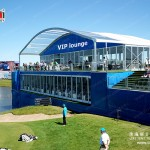 Arch Aluminum Double Decker Tent with Glass Walls for 2015 PGA Event