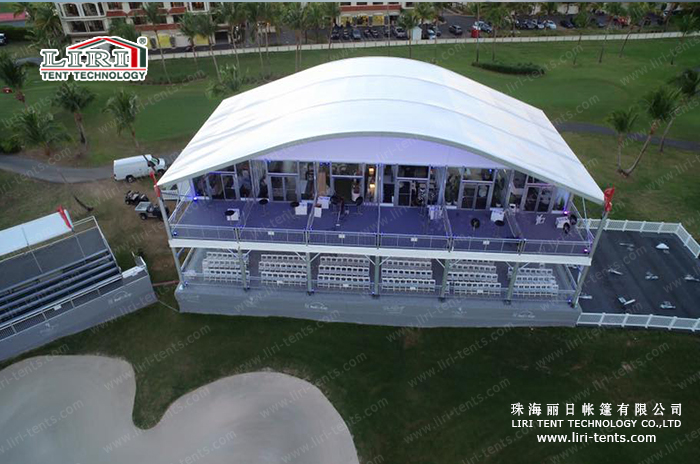 Liri Tent for Puerto Rico Open PGA Golf Tour (10) & Double Deck Golf Event Tent u2014 Marquee Tents for Sale