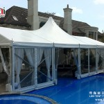 Custom Made High Peak PVC Tent for Hotel