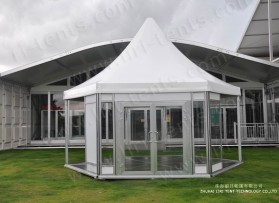 High Peak Polygon Tent With Glass Wall