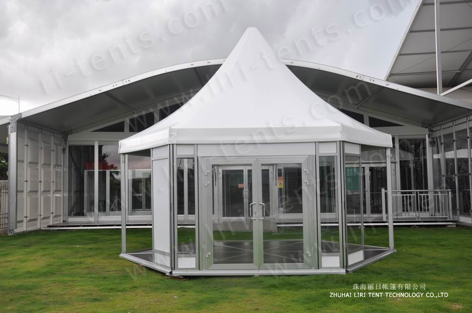 6m hexagonal high peak tent (5)