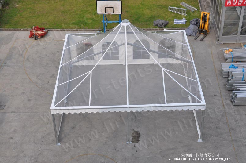 clear PVC pagoda tent