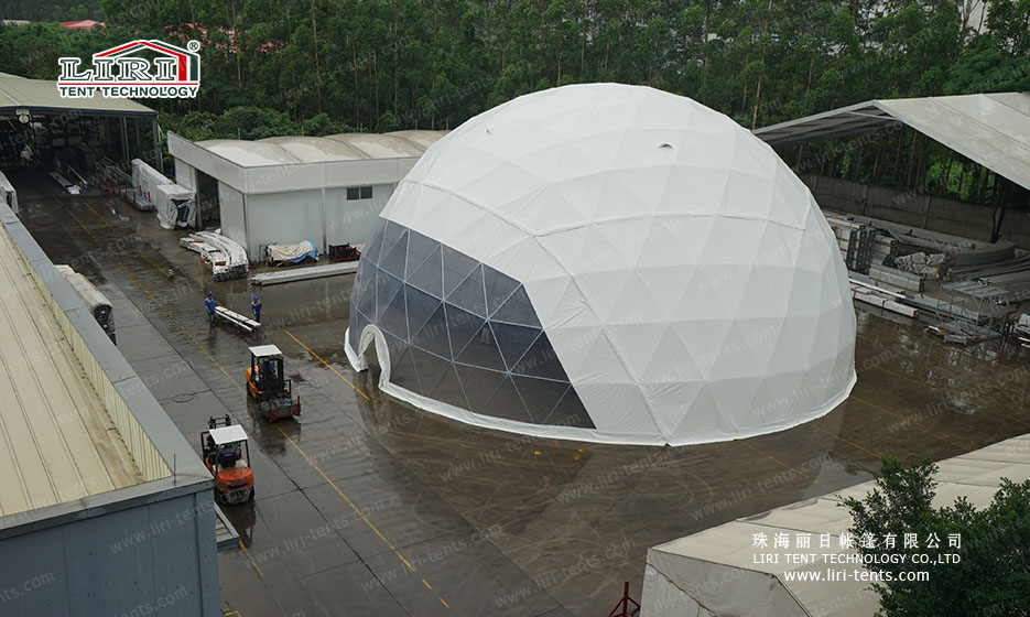 geodesic dome tent 25m (16)